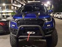Foto Mobil Ford Ranger Raptor Modifikasi Warna Biru
