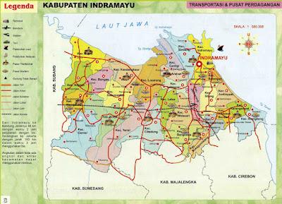 Peta Kota: Peta Kabupaten Indramayu