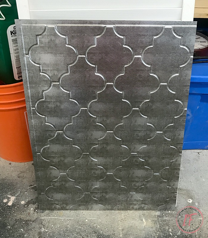 Industrial Coffee Table Galvanized Tin