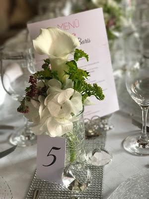 Tischnummern Tischdekoration mit Silberleuchtern und Glitzer, 4 Hochzeiten und eine Traumreise 2.0 im Riessersee Hotel Garmisch-Partenkirchen, Traumlocation am See in den Bergen, 2017