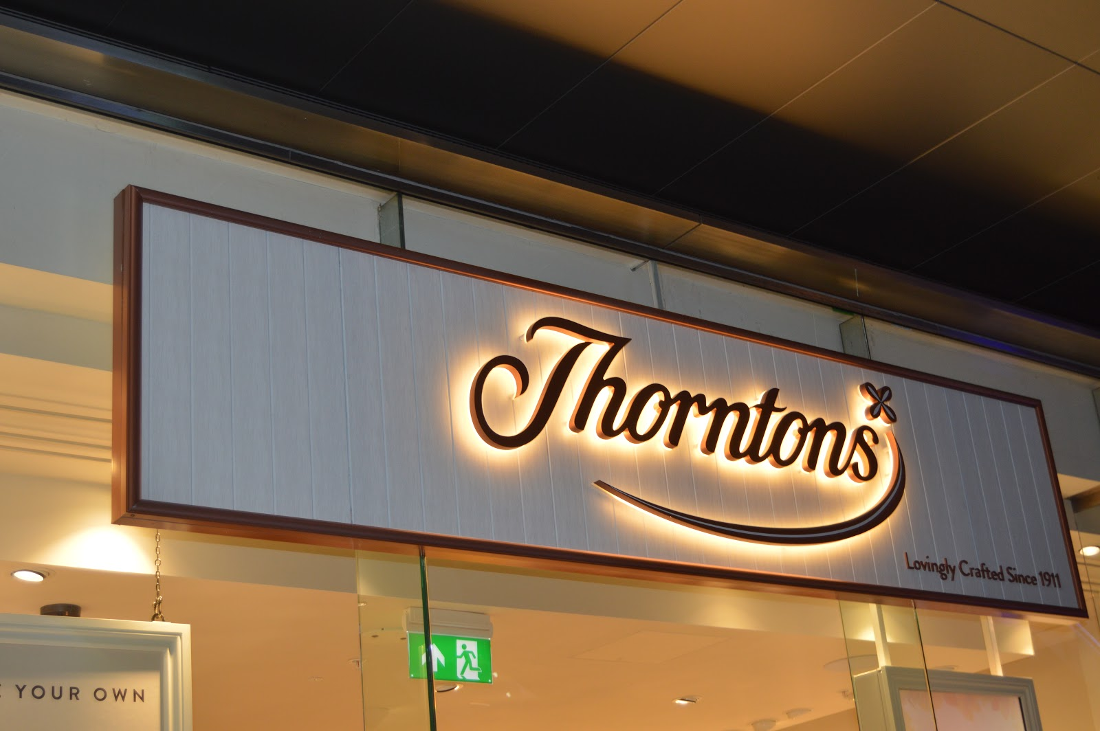 outside Thorntons