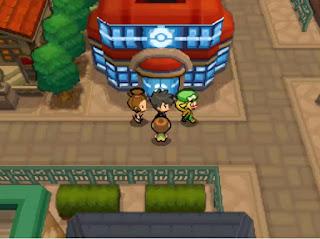 Pokemon Mega Delta para NDS Español Centro Pokemon Pueblo