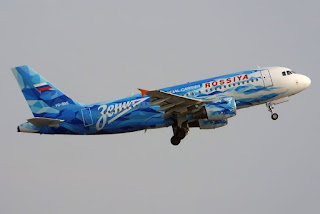 Airbus A319 VQ-BAS of Rossiya Airlines in Zenit St. Petersburg colours