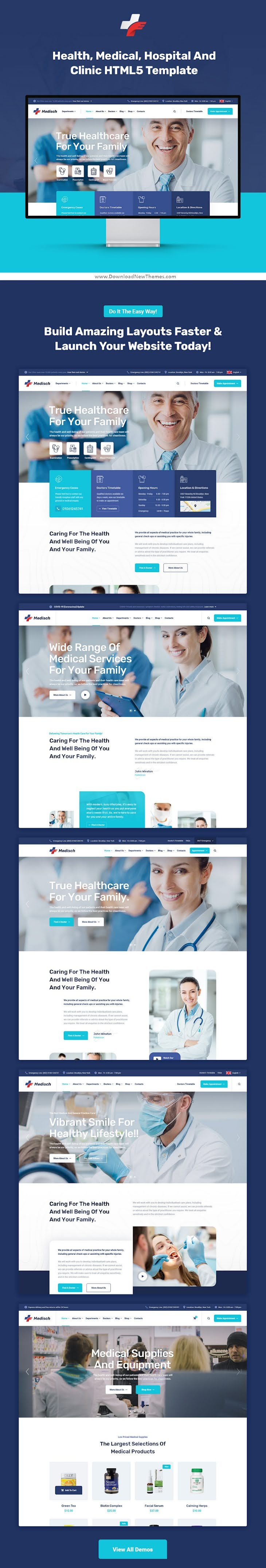 Health & Medical Bootstrap Template