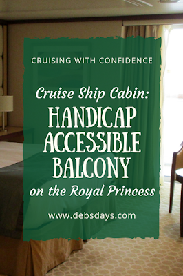 Handicapped accessible balcony cabin on Princess Cruises Royal Princess cruise ship