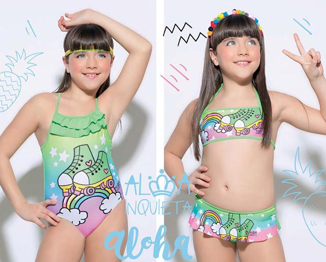 Mallas y bikinis para nenas verano 2018.