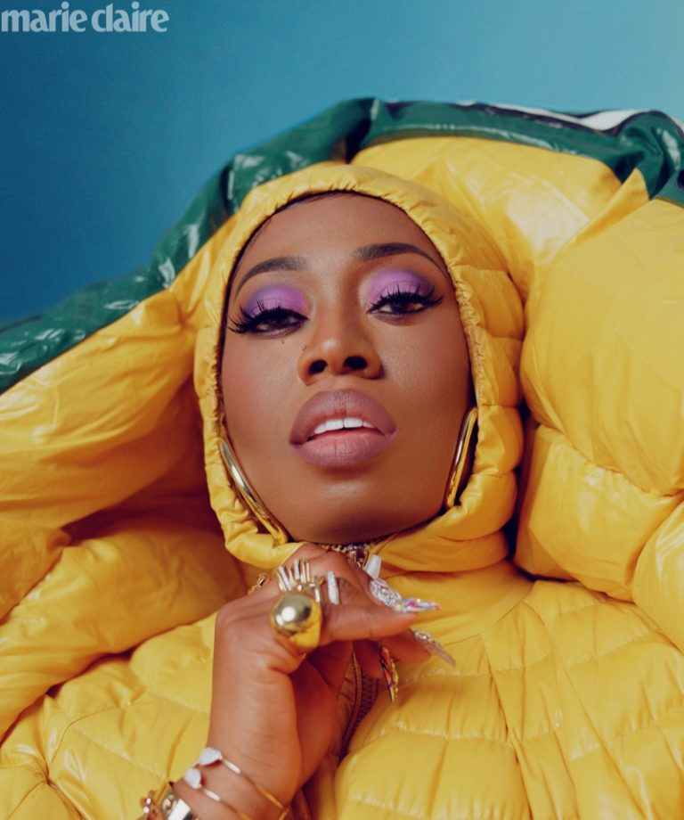 Missy Elliott wears Moncler Pierpaolo Piccioli quilted dress