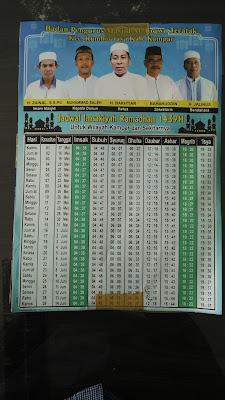 Brosur Imsakiyah Bulan Ramadhan
