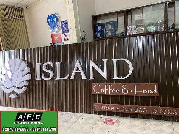 Thi công biển quảng cáo chữ nổi gắn đèn led tại Phú Quốc