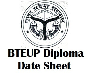 BTEUP Polytechnic Exam Time Table 2017