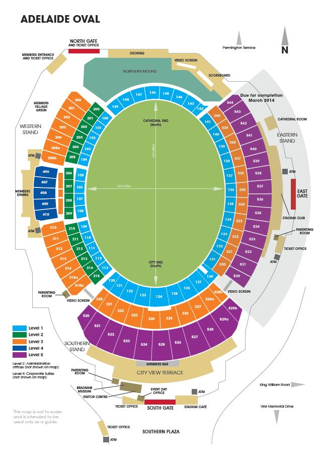 Adelaide Oval Map Adelaide Oval Map Adelaide Oval Map