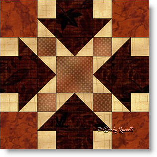 Crow's Feet quilt block pattern - image © Wendy Russell