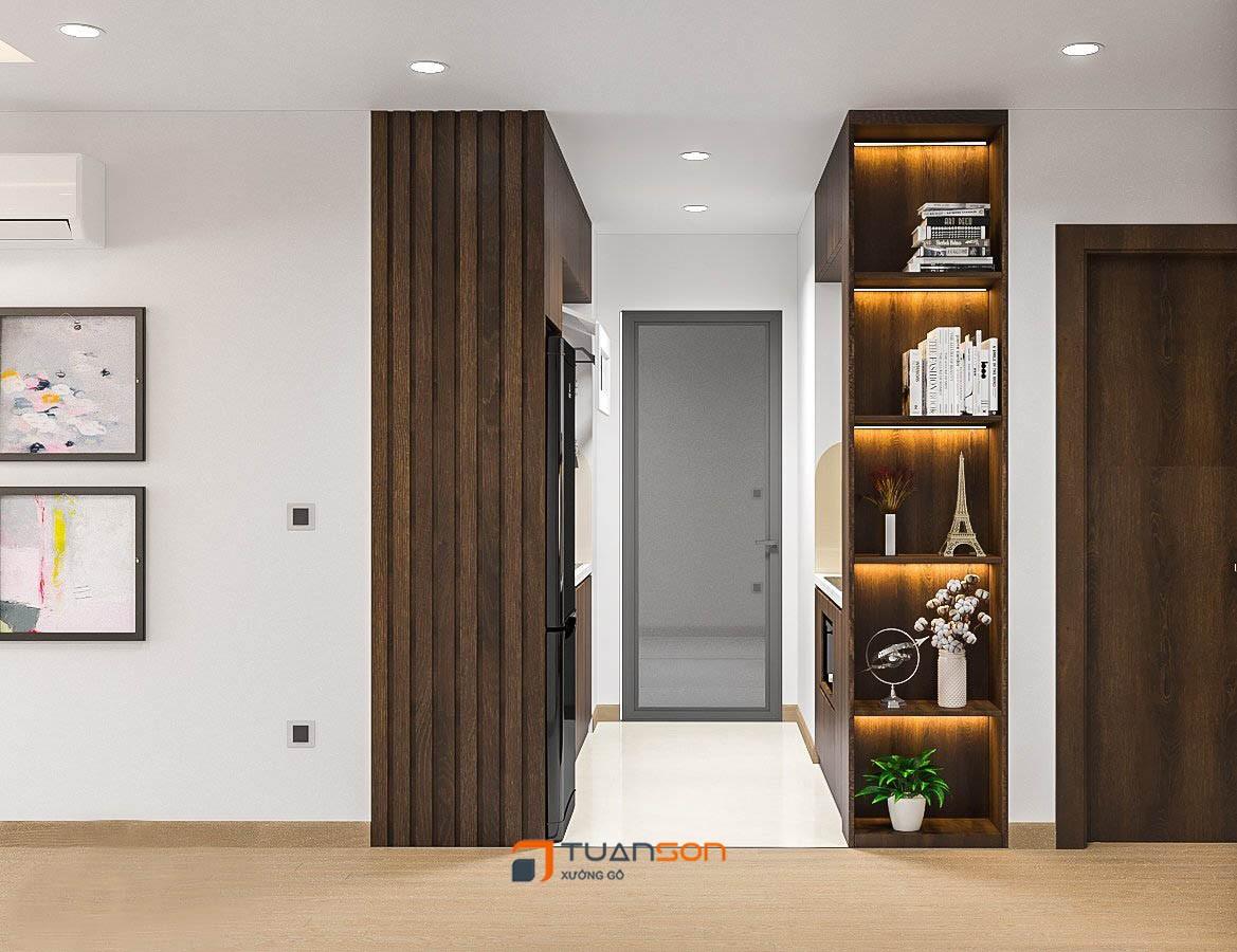 Thiết kế nội thất phòng khách căn 3 phòng ngủ IEC Thanh Trì
