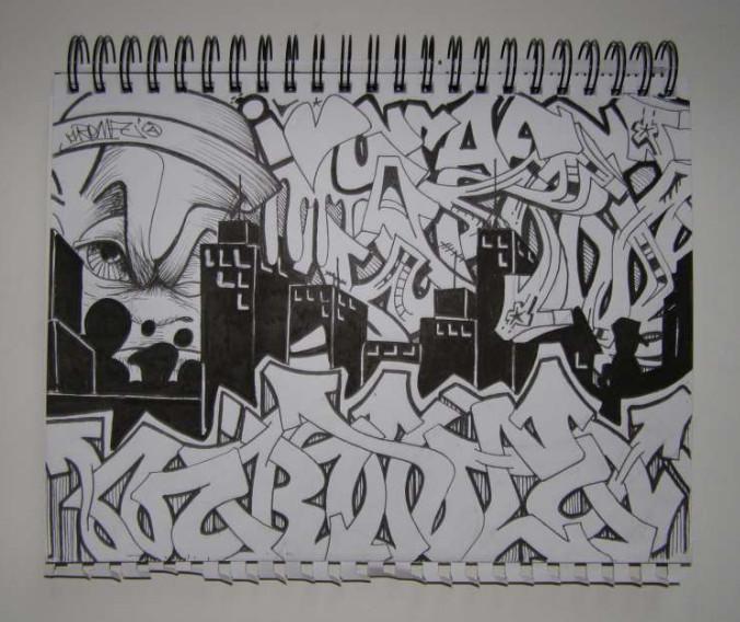 Graffiti Sketches: Graffiti Blackbook Black White
