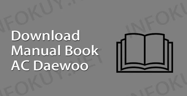 download manual book ac daewoo