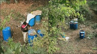 गौर नदी के किनारे कच्ची शराब उतारने के ठिकाने पर खमरिया पुलिस की दबिश