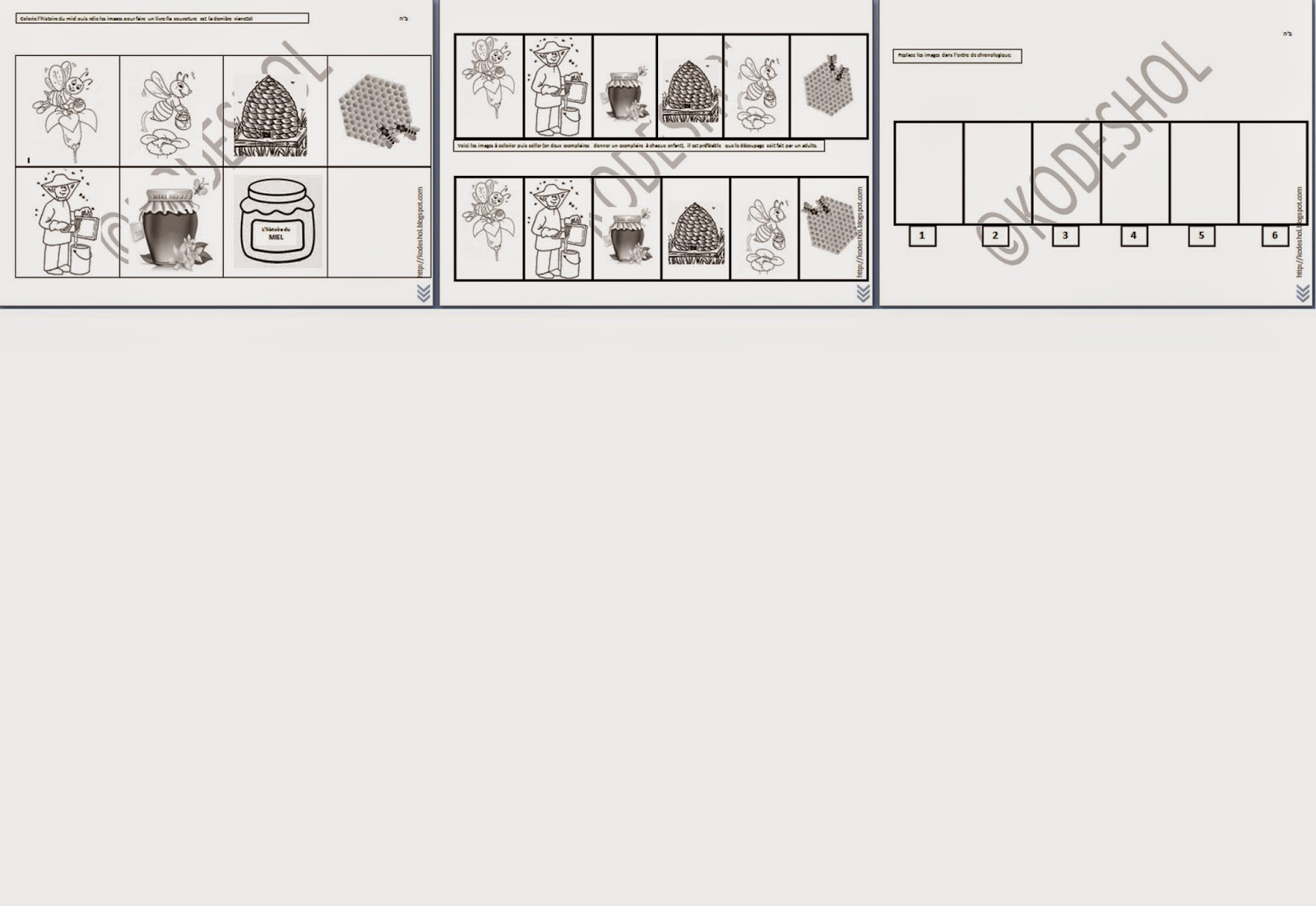 gan eveil le miel dossier et fiches d 39 exercices. Black Bedroom Furniture Sets. Home Design Ideas