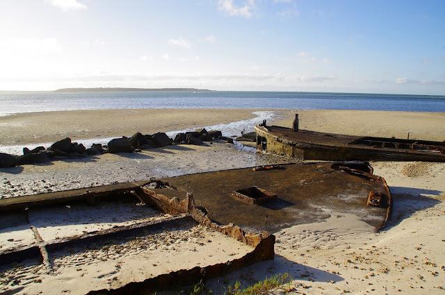 Shipwrecks at Dunwich on Stradbroke Island
