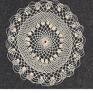 Crocheted Honeycomb Doily Pattern is 6 inches