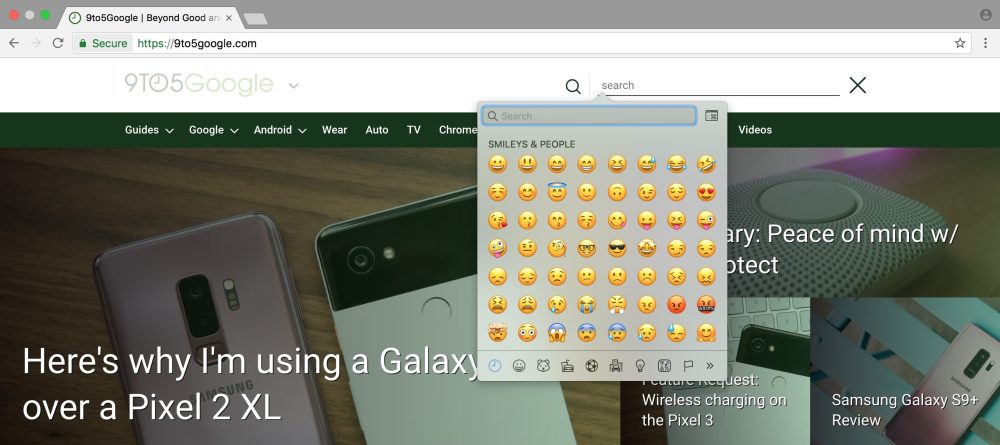 google chrome 67 canary emoji