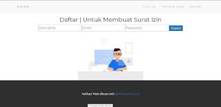 Halaman Daftar Aplikasi Web Buat Surat Izin Tidak Masuk Sekolah