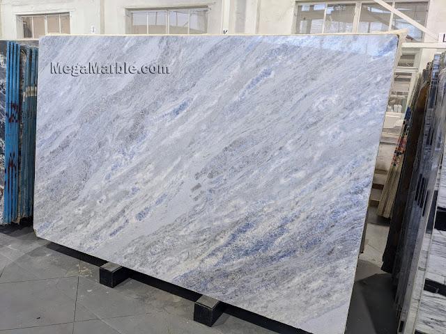Marble crystal blue crystal Polished Slabs