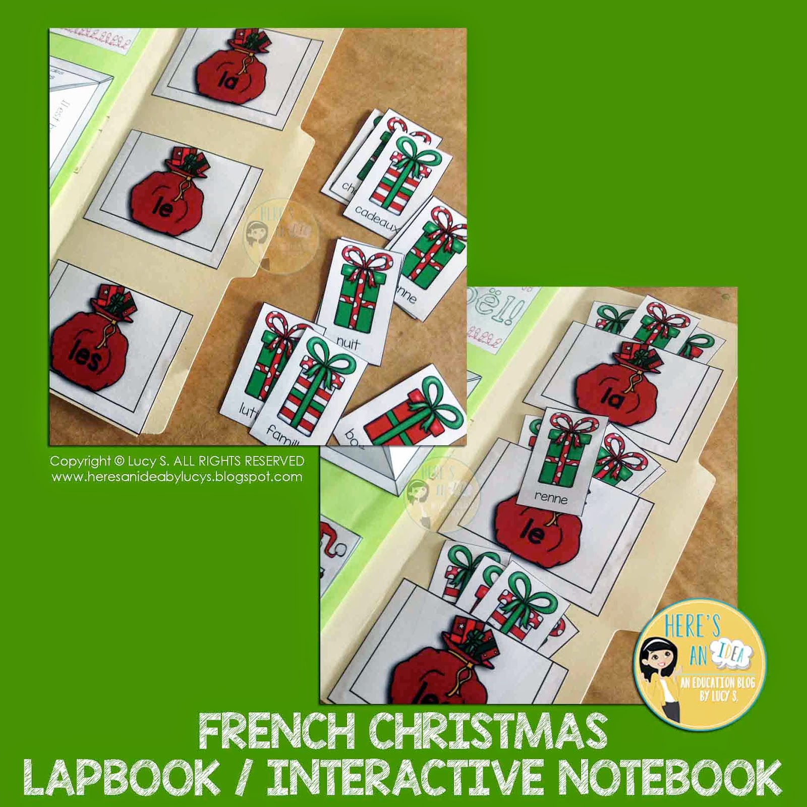 French Christmas Interactive Pocket Sorting Activity