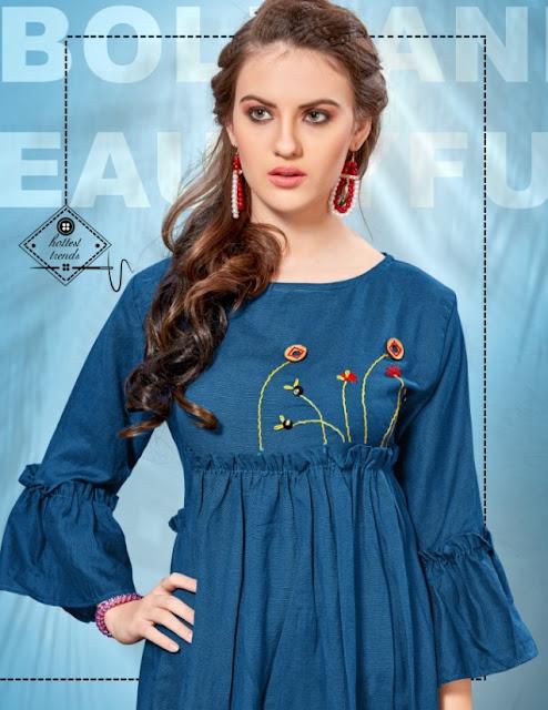 Madhubala Party wear kurtis manufacture by Banwery fashion