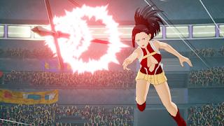"""Tsuyu Asui, Denki Kaminari y Momo Yaoyorozu se unen a """"My Hero Game Project""""."""