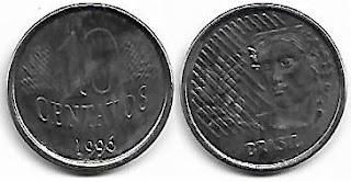 10 centavos, 1996