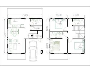 Desain Rumah Minimalis Modern Terbaru - Beserta Denahnya