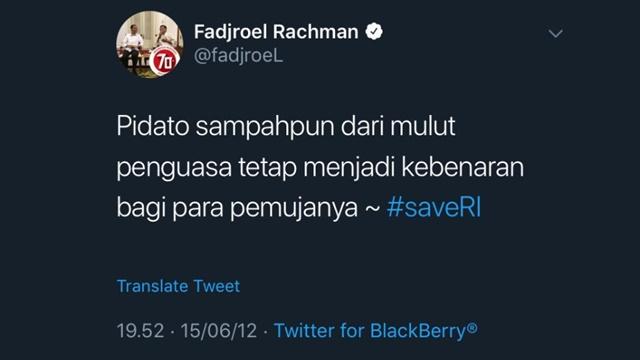 Pamer Esemka dengan Jokowi, Jejak Digital Fadjroel soal 'Pidato Sampah' Penguasa Diungkit