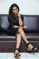 Telugu Actress Karunya Chowdary Latest Stills in Black Short Dress at Edo Prema Lokam Audio Launch .COM 0295.JPG