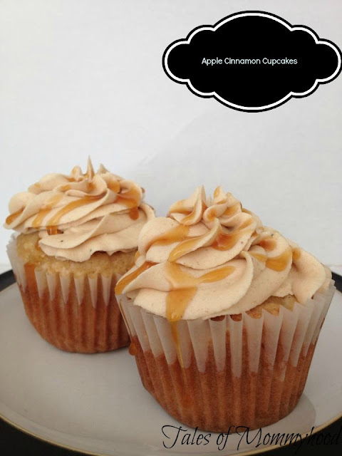 apple cinnamon caramel cupcakes