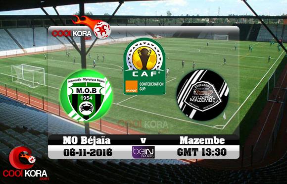 مشاهدة مباراة مازيمبي ومولودية بجاية اليوم 6-11-2016 نهائي كأس الإتحاد الأفريقي
