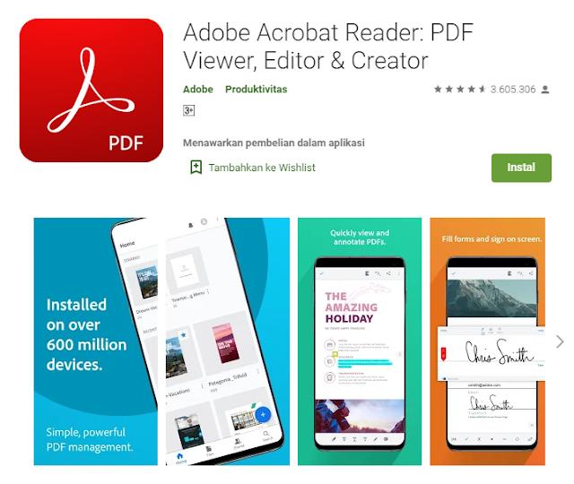 fungsi adobe reader pada android