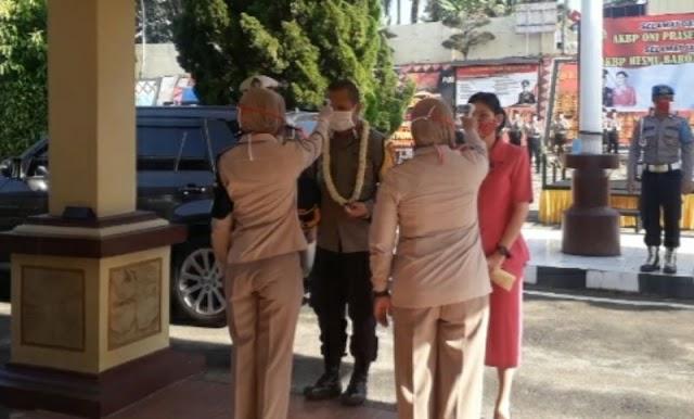 Tiba di Mako, Kapolres Tanggamus AKBP Oni Prasetya Ikuti Prosedur Pencegahan Covid-19