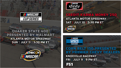 Weekend Racing Schedule (#NASCAR #SRX #ARCA)