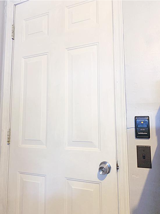 painted door and trim