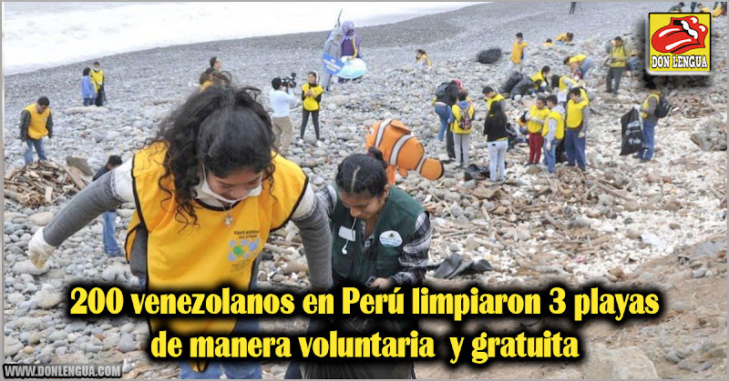 200 venezolanos en Perú limpiaron 3 playas de manera voluntaria  y gratuita