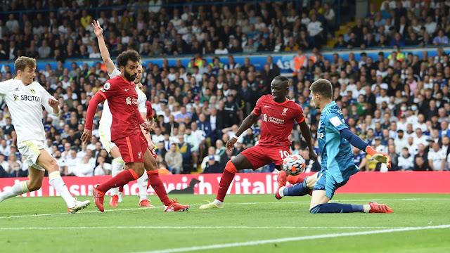 Liverpool forward Mohamed Salah scores 100 Premier League goals