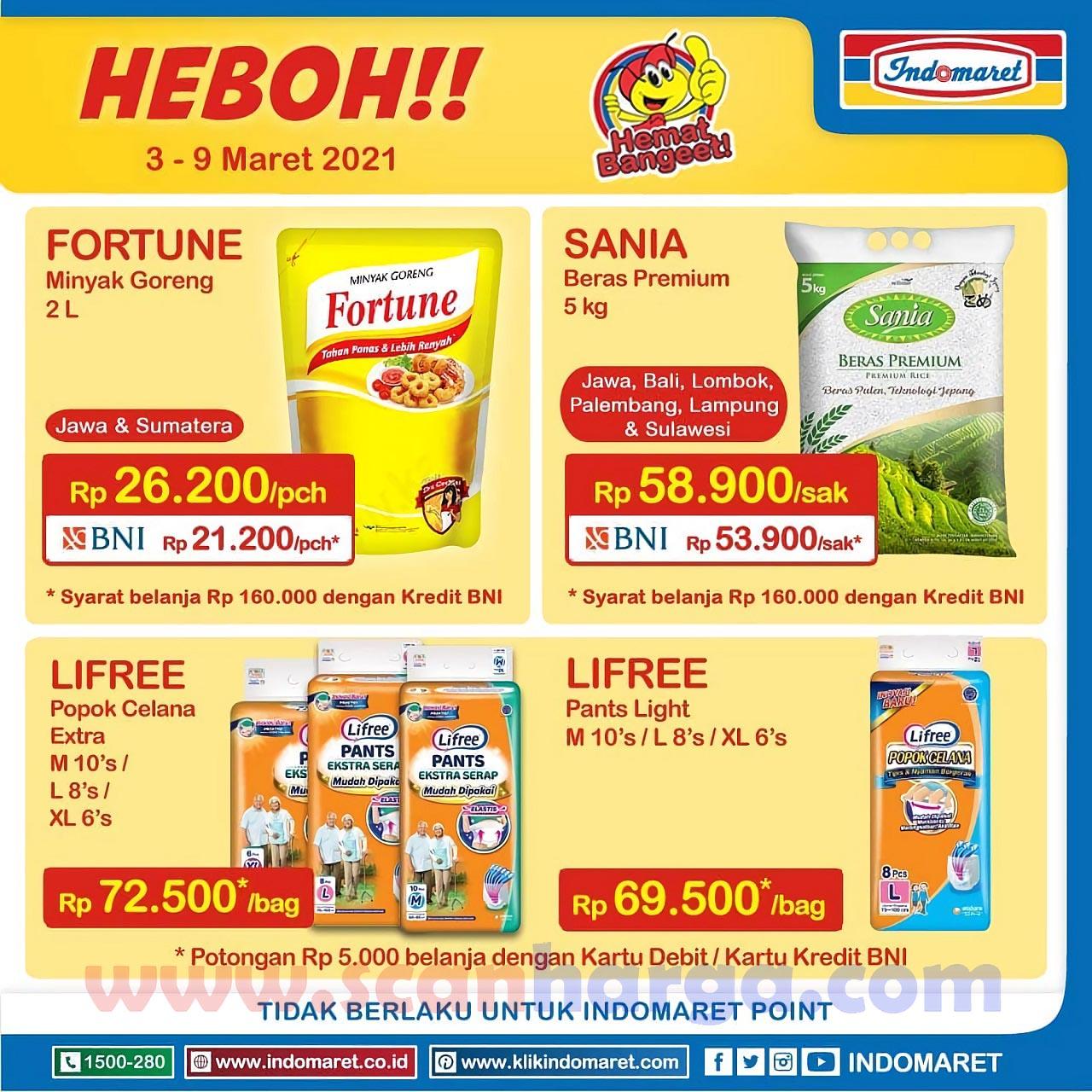 Promo Indomaret Heboh 3 - 9 Maret 2021 Harga Minyak Goreng & Susu Murah