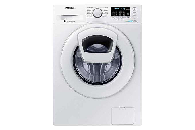 Samsung 8 kg Fully-Automatic Front Loading Washing Machine (WW80K5210WW, White) by Samsung