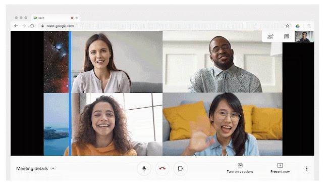 Cara Bagaimana Ganti/Ubah/Tukar latar belakang di Google Meet.