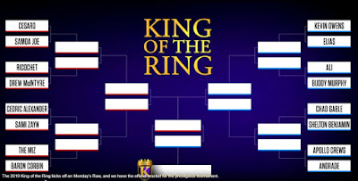 King of the Ring 2019 Tournament Bracket