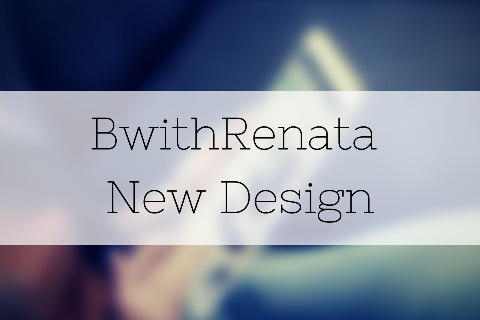 BwithRenata Blog Design