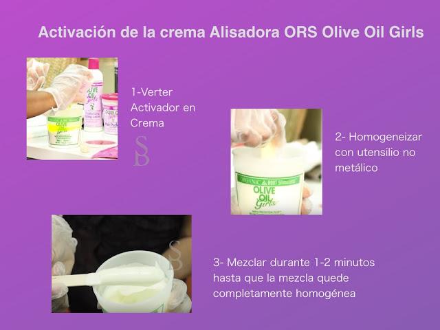 Correcta Activación de la crema Alisadora ORS Olive Oil Girls