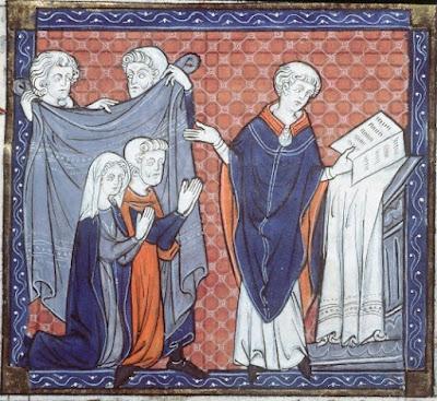 Bénédiction nuptiale XIIIe siècle