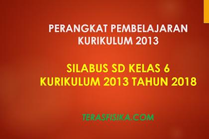 Download Silabus SD Kelas 6 Kurikulum 2013 Revisi 2018