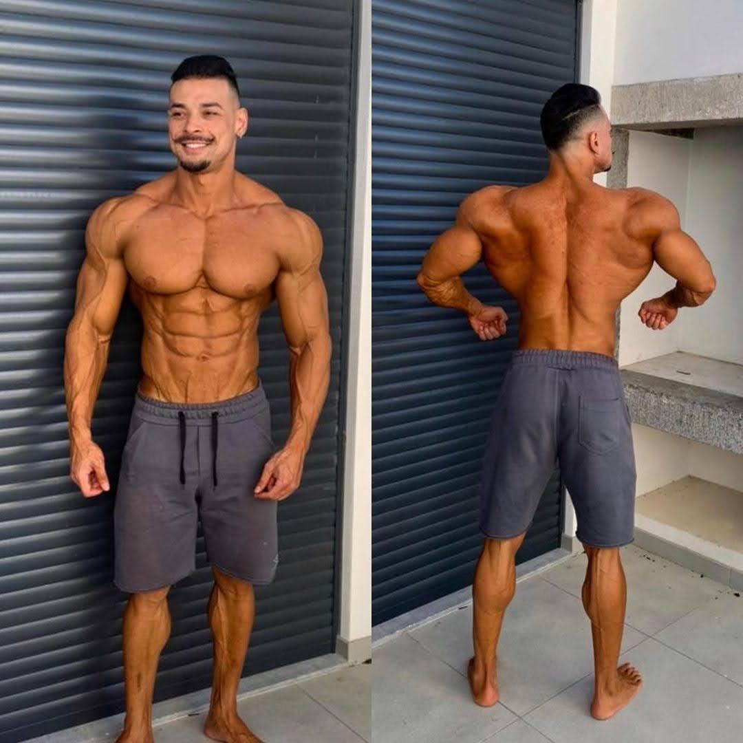 Felipe Franco mostra físico musculoso um dia antes da competição. Foto: Arquivo pessoal